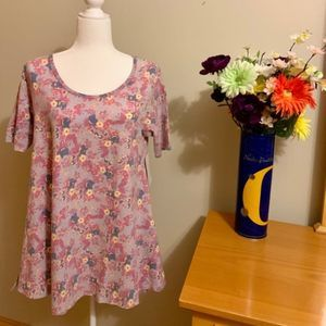 NWT LuLaRoe Floral Perfect T - Size Small